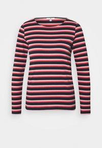 TOM TAILOR - STRIPED CREW NECK - Topper langermet - navy/red/multicolor - 4