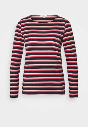 STRIPED CREW NECK - Topper langermet - navy/red/multicolor