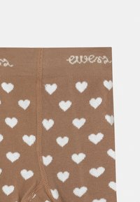 Ewers - HEARTS 2 PACK - Tights - light brown/white - 3