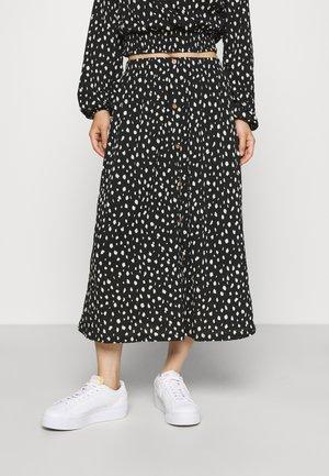 ONLPELLA BUTTON SKIRT - A-line skirt - black