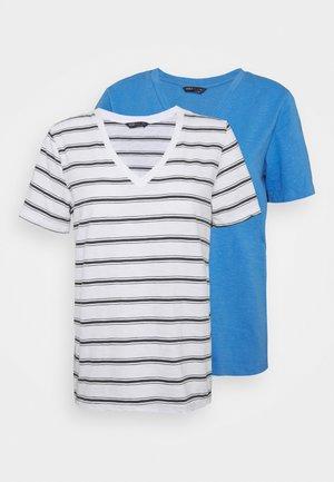 SLUB 2 PACK - Print T-shirt - blue