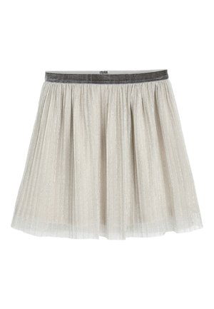 SILVER SKIRT (3-16YRS) - A-line skirt - silver