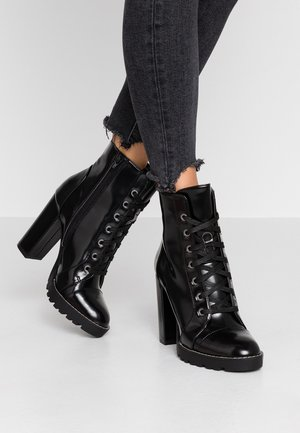 AXELL - High heeled ankle boots - black
