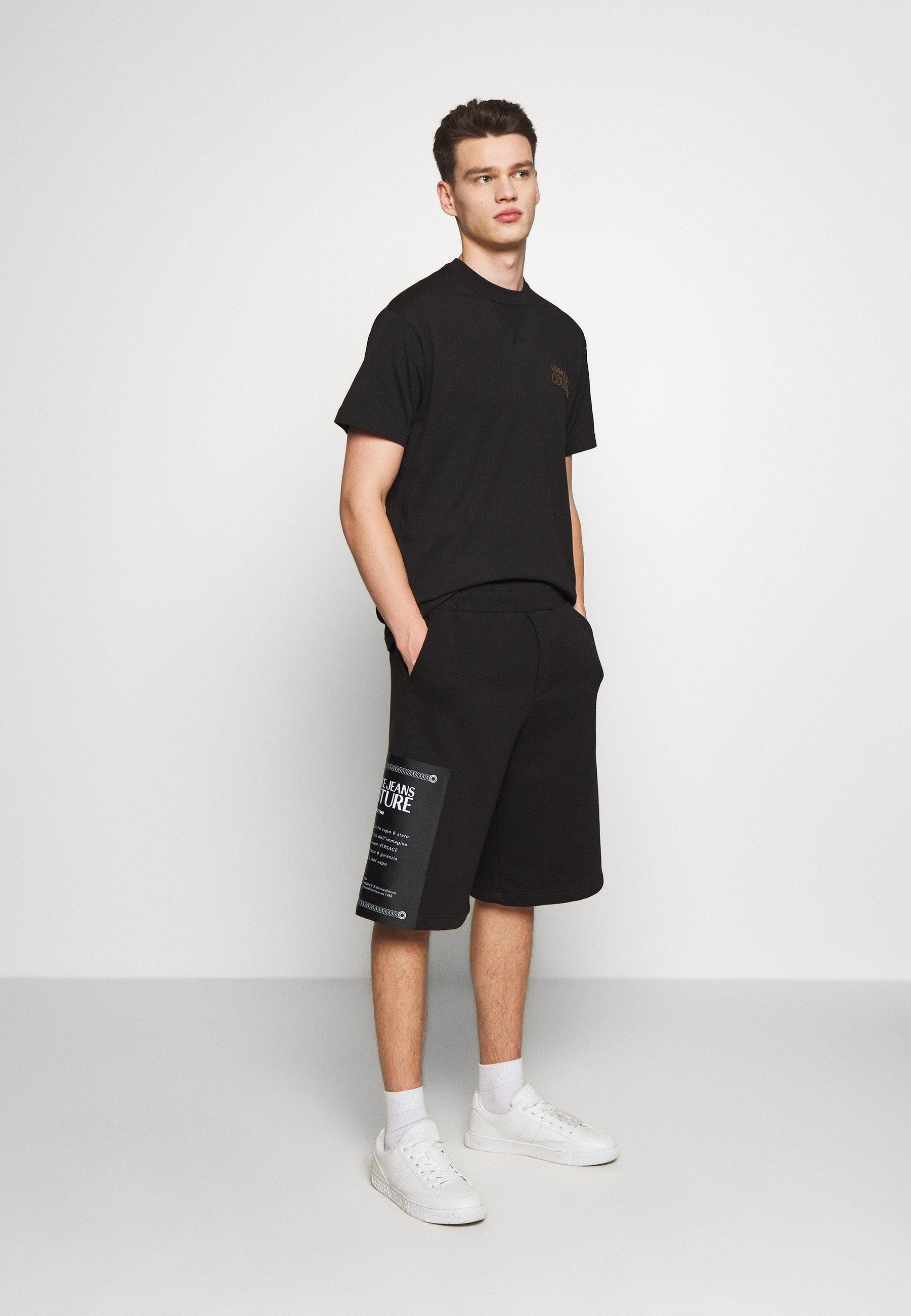 Versace Jeans Couture CHEST LOGO - T-shirt imprimé - black