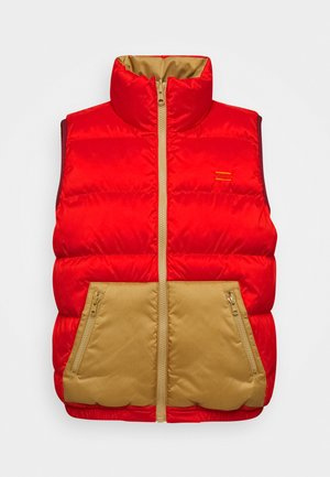 LYDIA REVERSIBLE VEST - Kamizelka - poppy red