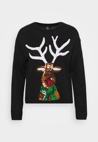New Look - CHRISTMAS 17.05 WW XMAS SEQUIN REINDEER P82 - Jumper - black - 5