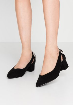 WIDE FIT FLY BOW BACK COURT - Escarpins - black