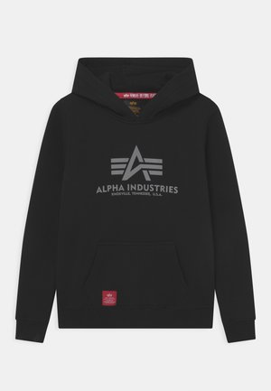 BASIC HOODY PRINT - Sweatshirt - black
