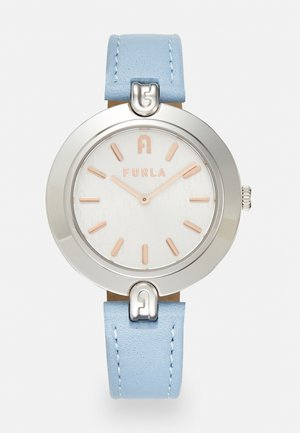FURLA LOGO LINKS - Klokke - lightblue/silver-coloured