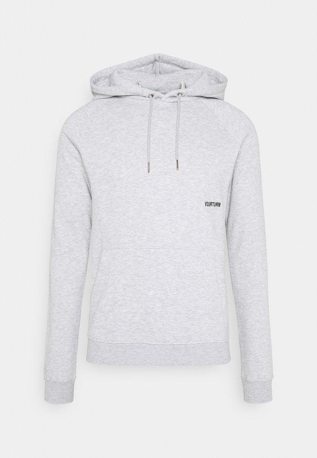 UNISEX - Sweat à capuche - mottled light grey