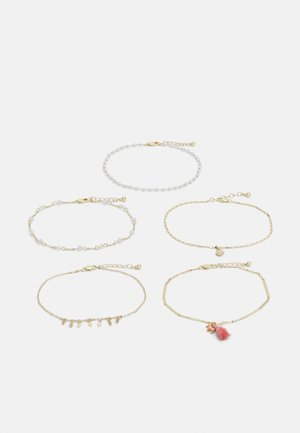 PCELLLIE ANKLET 5 PACK - Armband - gold-coloured/rose