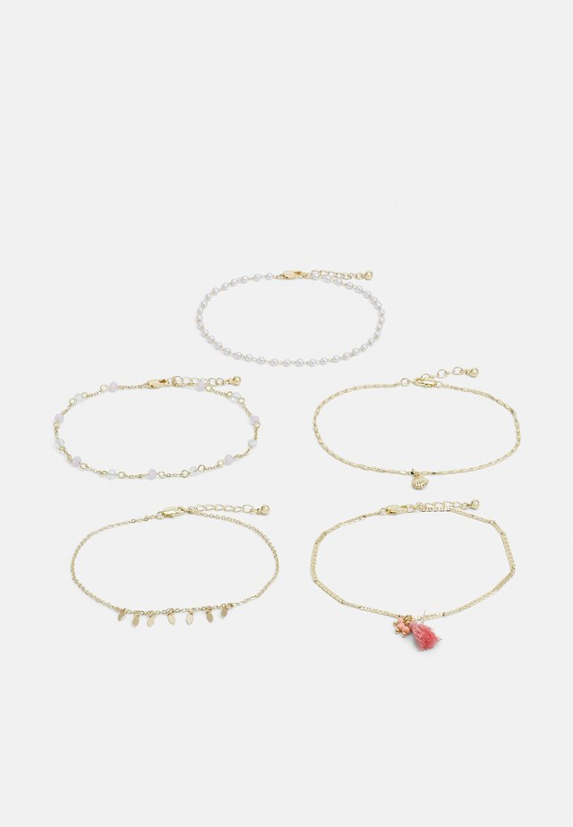 PCELLLIE ANKLET 5 PACK - Armbånd - gold-coloured/rose