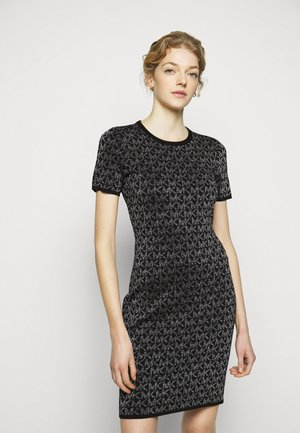 DOT - Shift dress - black/silver