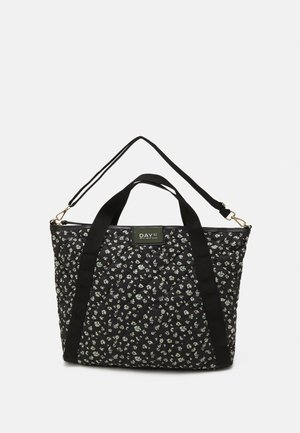 GWENETH FLOWER CROSS - Shopping bag - black