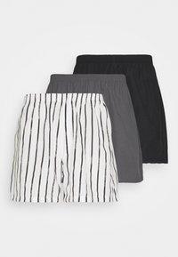 Pier One - 3 PACK - Bokserit - black/dark grey/white - 4