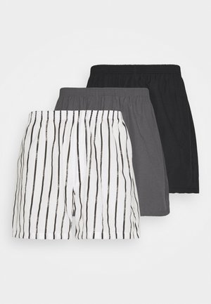 3 PACK - Boxer shorts - black/dark grey/white