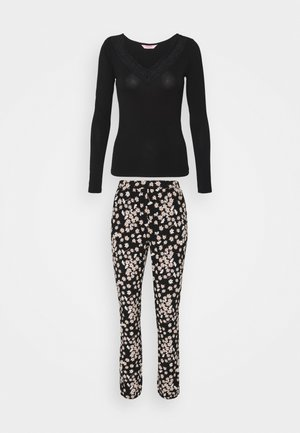 SET NECK LACE DAISY - Pyjamas - black