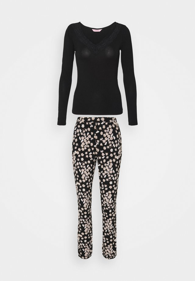 SET NECK LACE DAISY - Pyjama - black