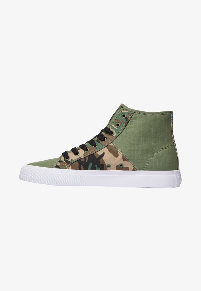 High-top trainers - black/military camo
