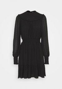 MICHAEL Michael Kors - SWISS DOT SMOCKED DRESS - Denní šaty - black - 4
