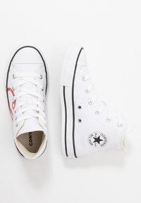 Converse - CHUCK TAYLOR ALL STAR - Vysoké tenisky - white/university red - 0