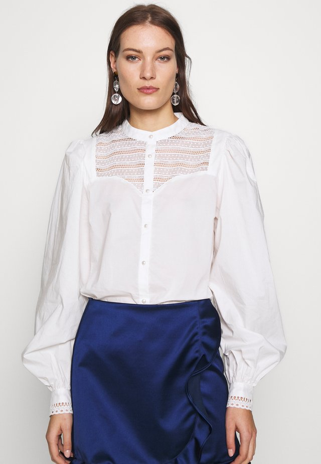 ELLENA - Button-down blouse - whisper white