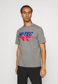 Hi-Tec - BEN - T-shirt print - collegiate grey marl - 0