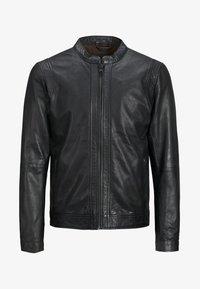Jack & Jones PREMIUM - Leather jacket - black - 4