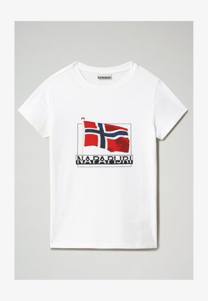 SEJI - Print T-shirt - bright white
