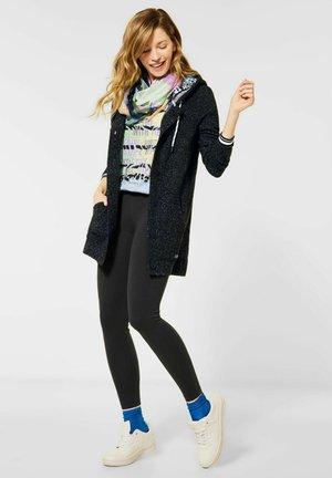 MIT KAPUZE - Zip-up hoodie - grau