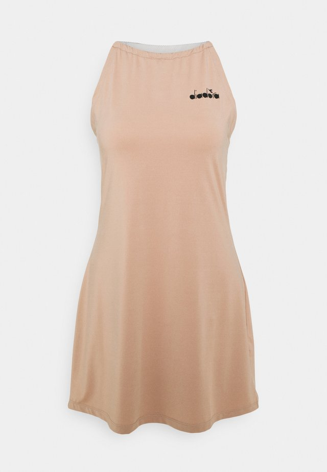 DRESS CLAY - Jurken - mahogany rose/whisper white