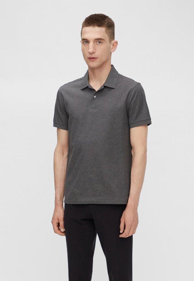 TROY - Polo shirt - dark grey melange