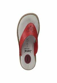 Jana - T-bar sandals - red - 1
