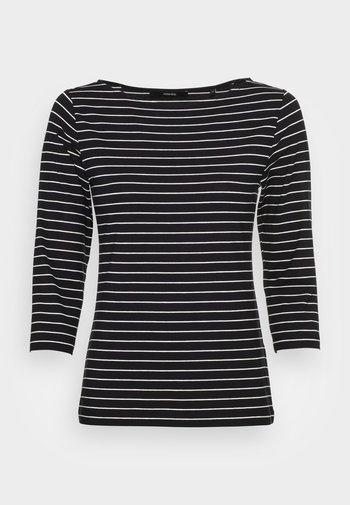 KELISA STRIPE - Long sleeved top - black