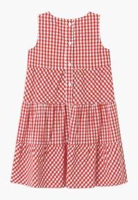 Blue Seven - SMALL GIRLS TIERD CHECK - Shirt dress - hochrot - 1