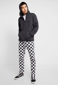 Vans - BASIC ZIP HOODIE - Felpa aperta - black heather - 1