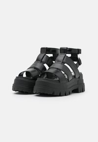 Buffalo - VEGAN ASPHA  - Platform sandals - black - 2