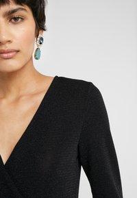Bruuns Bazaar - METALLIC RIBA DRESS - Day dress - black/silver - 4