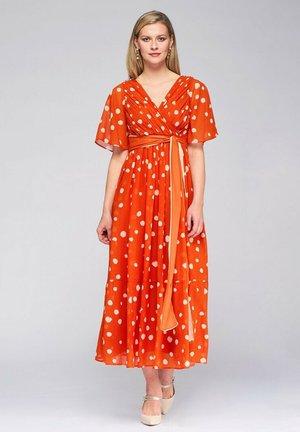 CRUZADO LUNARES - Maxi dress - naranja