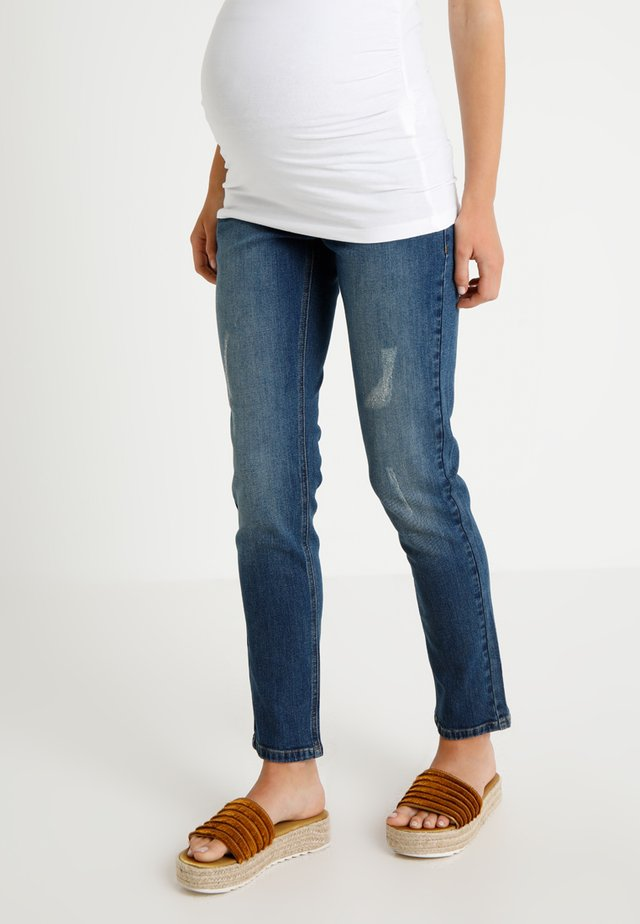 BOYFRIEND - Jeans slim fit - light blue