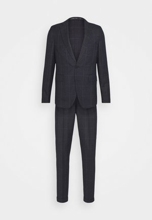 CHECK UNSTRUCTURED - Suit - dark blue
