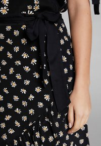 Oui - A-line skirt - black offwhite - 3