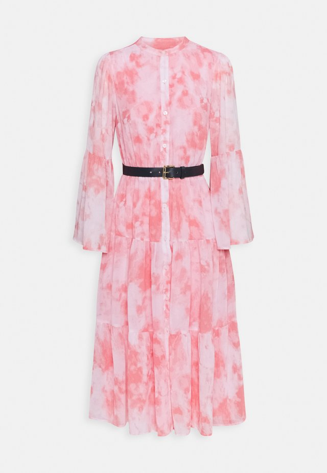 TIE DYE MIDI DRESS - Shirt dress - shell pink