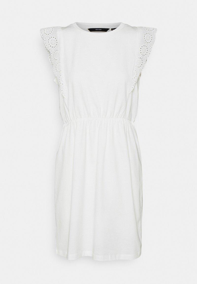 Vero Moda - VMHOLLYN DRESS - Jersey dress - snow white