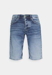 TRACK - Denim shorts - denim