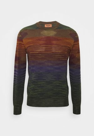 LONG SLEEVE CREW NECK - Strikpullover /Striktrøjer - multi-coloured
