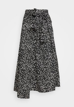 HANNE ILSA SKIRT - Falda acampanada - black windy