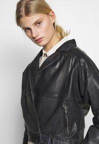 Freaky Nation - LORIANA - Leather jacket - black - 3