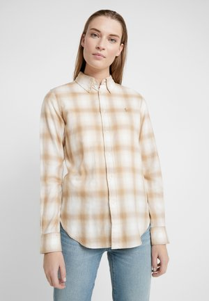 GEORGIA CLASSIC - Button-down blouse - cream/sand