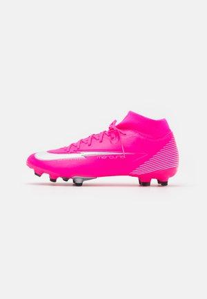MERCURIAL 7 ACADEMY MBAPPÉ - Botas de fútbol con tacos - pink blast/white/black